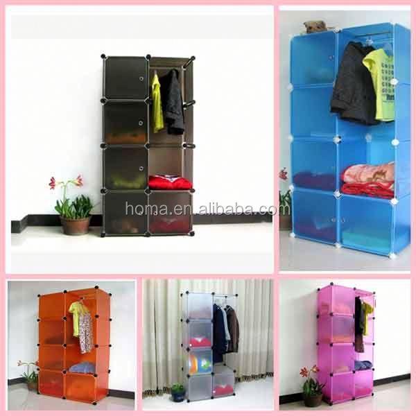 DIY YIWU Cheap open wooden wardrobe