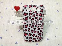 Chic Leopard leather skin pc hard case for Samsung galaxy s3 i9300
