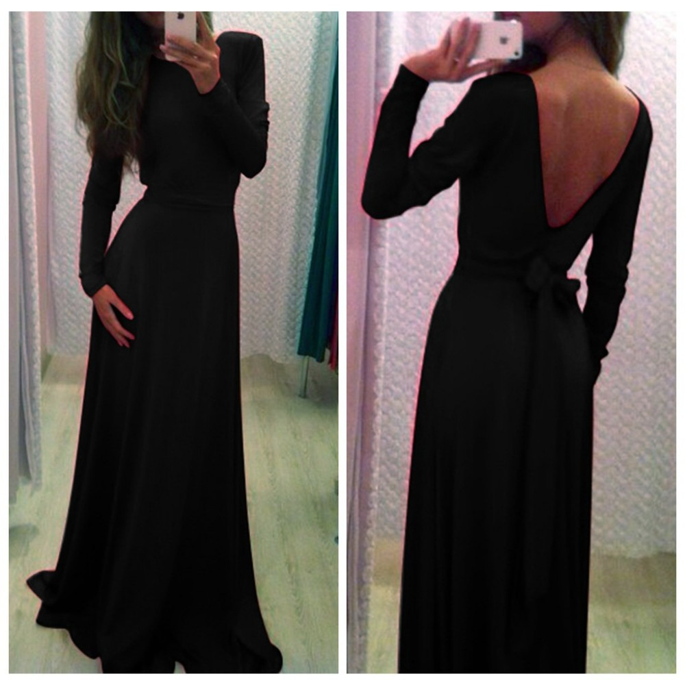 Фото чёрные платья в пол