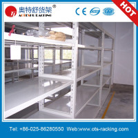 Adjustable angle iron shelf