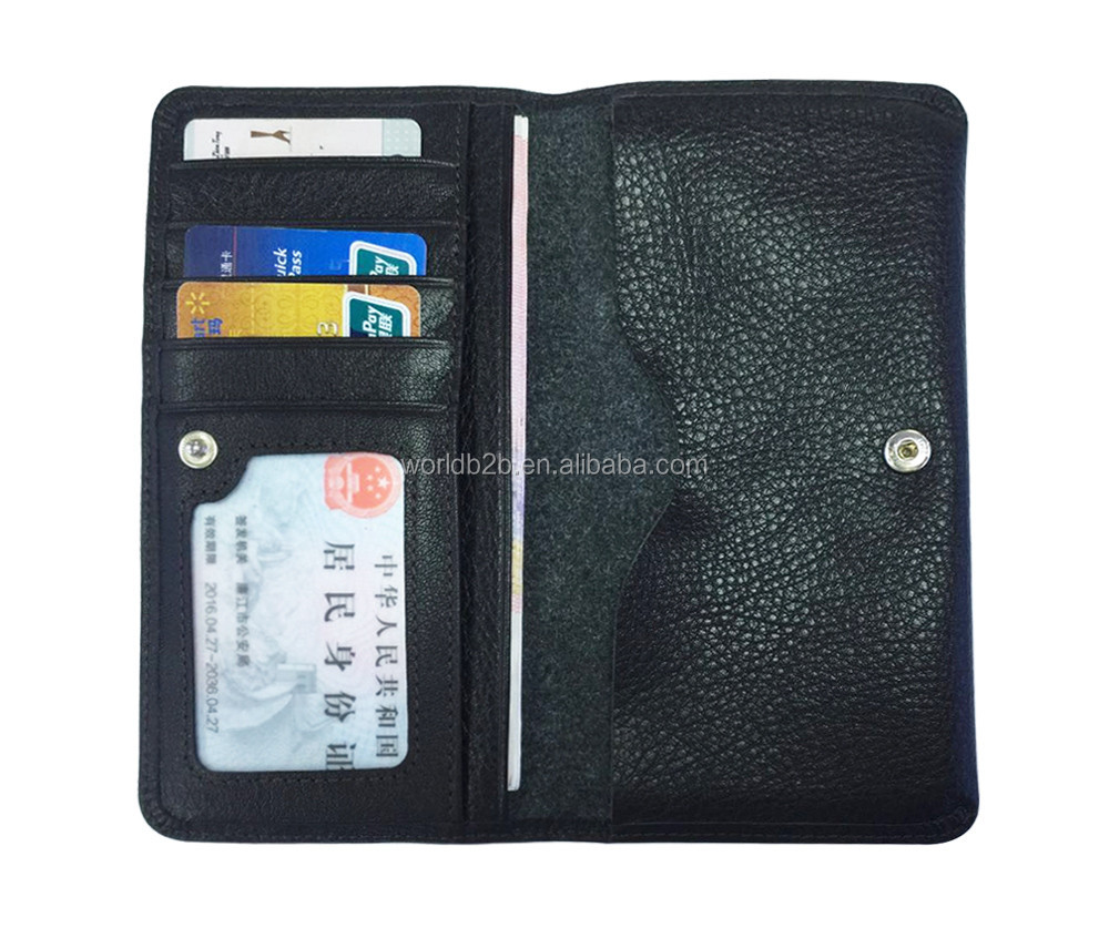 Universal Genuine Leather Mobile Phone Case Real Leather Wallet