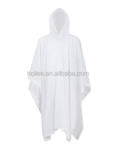 Wholesale Adult plastic promotional transparent rain poncho