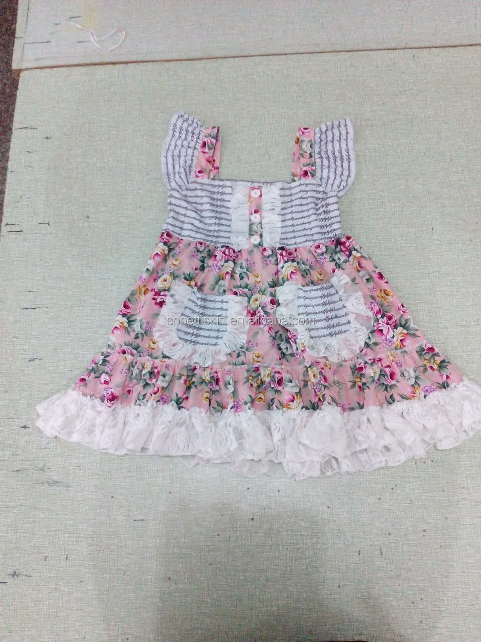 2017 kids frock design pictures little Princess dress birthday dress