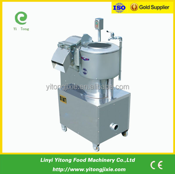 China Automatic Stainless Steel Electric Stem Vegetable peeling & cutting machine