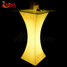 plastic outdoor unique bar table furniture led plastic portable bar counter furniture