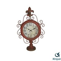 Fleur De Lis Art Desk Clocks , digital table clock antique