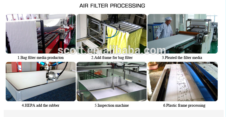 air filter processing
