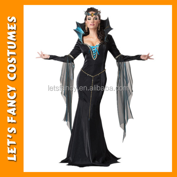 PGWC1810 High quality black fairytale evil queen costume for halloween