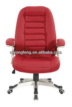 High-end middle back swivel red color manager office chair