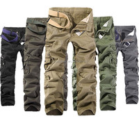 Men Casual Work PantsTrousers Army Jogger Camo Combat Military Pants Cargo Pants