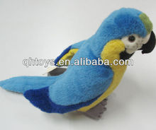 Plush parrot toys blue bird plush toy