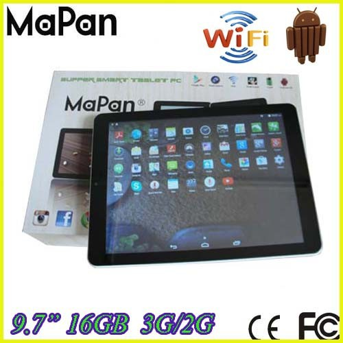 "ultra-thin 4.4 android tablet phone / mapan android 4.4 mobile phone/9.7"" android tablet pc"