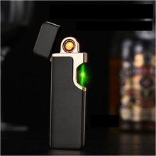 Portable mini USB charging electric wire metal lighters,Men's Cigarette lighters
