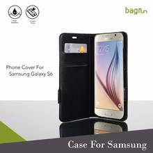 Free Sample Mobile Phone Case Genuine Leather Flip Cover For Samsung Galaxy S6 E7