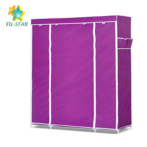 Best quality dustproof storage non woven fabric folding clothes wardrobe