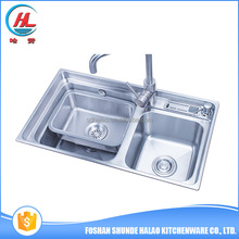 OEM size good quality small double sink steel prison MOQ 100 PCS kitchen sinks