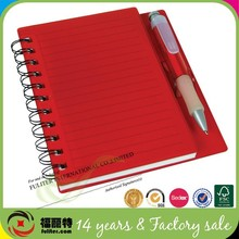 Promotional A5 pp cover spiral notebook with pen from Dongguan supplier