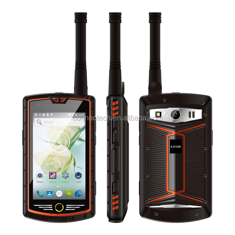 China Alps W305 4 Inch Touch Screen Analog DMR Dual Mode Walkie Talkie Android Smartphone
