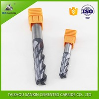 solid tunsgten carbide 4 flute end mill cutting tools/universal carbide milling cutter