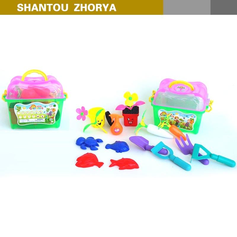Fancy outdoor pretend play toys kid learning toys 18 pcs plant flower toys gardening tool kit