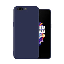 Custom colorful soft frosted matte back cover for oneplus 5 candy colors tpu case