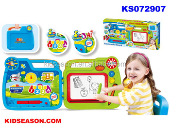 KIDSEASON 2 IN 1 SUITCASE ELECTRONIC MAGIC DRAWING BOARD WITH MUSIC/SOUND