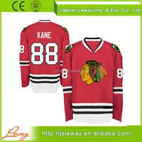 Blanks for sublimation polyester blackhawks ice hockey jerseys chicago