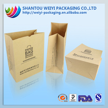 Food grade custom printing white kraft paper bag baguette packaging