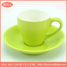 cup and saucer sets green double glaze stoneware ceramic italy espresso coffee cup and saucer