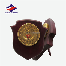 Chinese navy custom symbol wooden award plaque