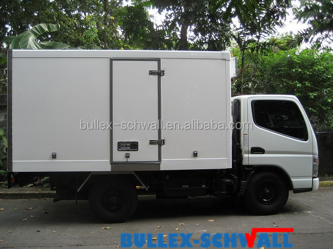 China insulated cool van box refrigerated truck box body