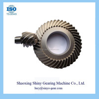 Electric Motor with Reduction Gear Spiral Bevel Gear