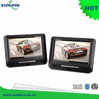 9 inch dual TFT portable DVD player with car charger