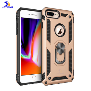 Hybrid 2 in 1 Anti Shock Kickstand Bumper Protective For Iphone 7/8 Plus Magnetic Case Finger Ring
