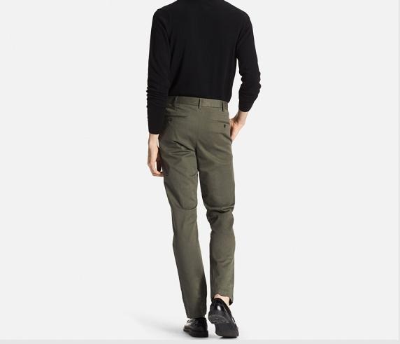 Slimming boys chino cotton men's pants