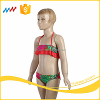 Jungle Style Children Swimwear Girls Bright Color Bikini Wholesale