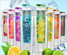 2017 year tritan material bpa free infuser fruit water bottle