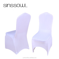 Wedding Decoration Universal Spandex Stretch Polyester Lycra White Chair Covers for Event Hotel Banquet Party Celebration