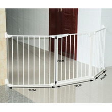 Safety Baby Gate, Plastic Metal Dog Cat Door Barrier