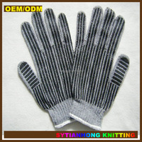 Cheap safety work skin color cotton gloves
