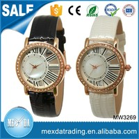 Ladies new fancy design stainless steel back gold plated wrist watch
