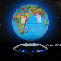 Popular UFO base magnetic levitation 6 inch globe best design personalised gifts for children