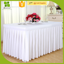 Hot selling hotel table skirting for party