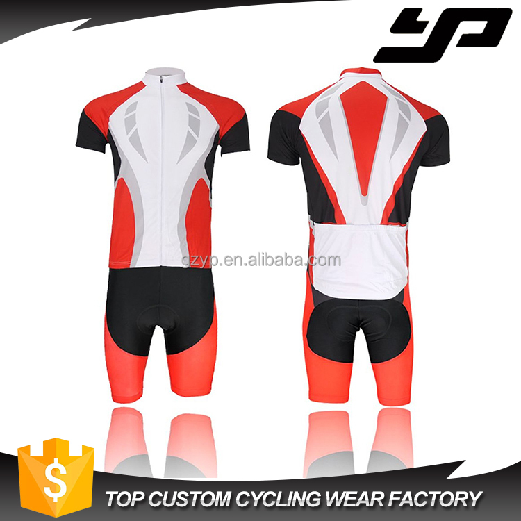 Sublimation digital printing quick dry cycling jersey custom blank cycling wear