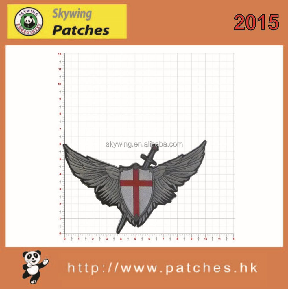2015 custom red cross patches embroidered hot sale