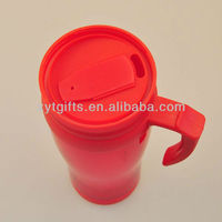 400ml eco friendly plastic traveling mugs push pull lid with handle