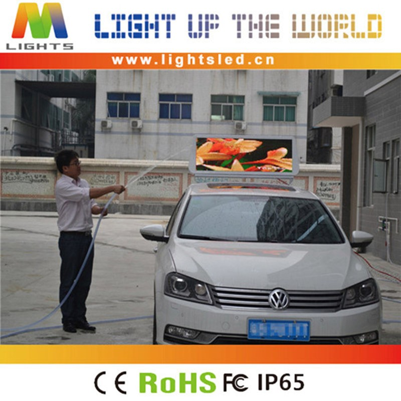 P4 Outdoor Waterproof 12Volt Advertising Text Screen Car Message Roof Sign For Taxi Top LED Display