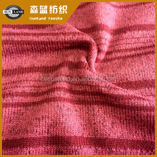 100 polyester yarn dyed stripe brushed fleece fabric