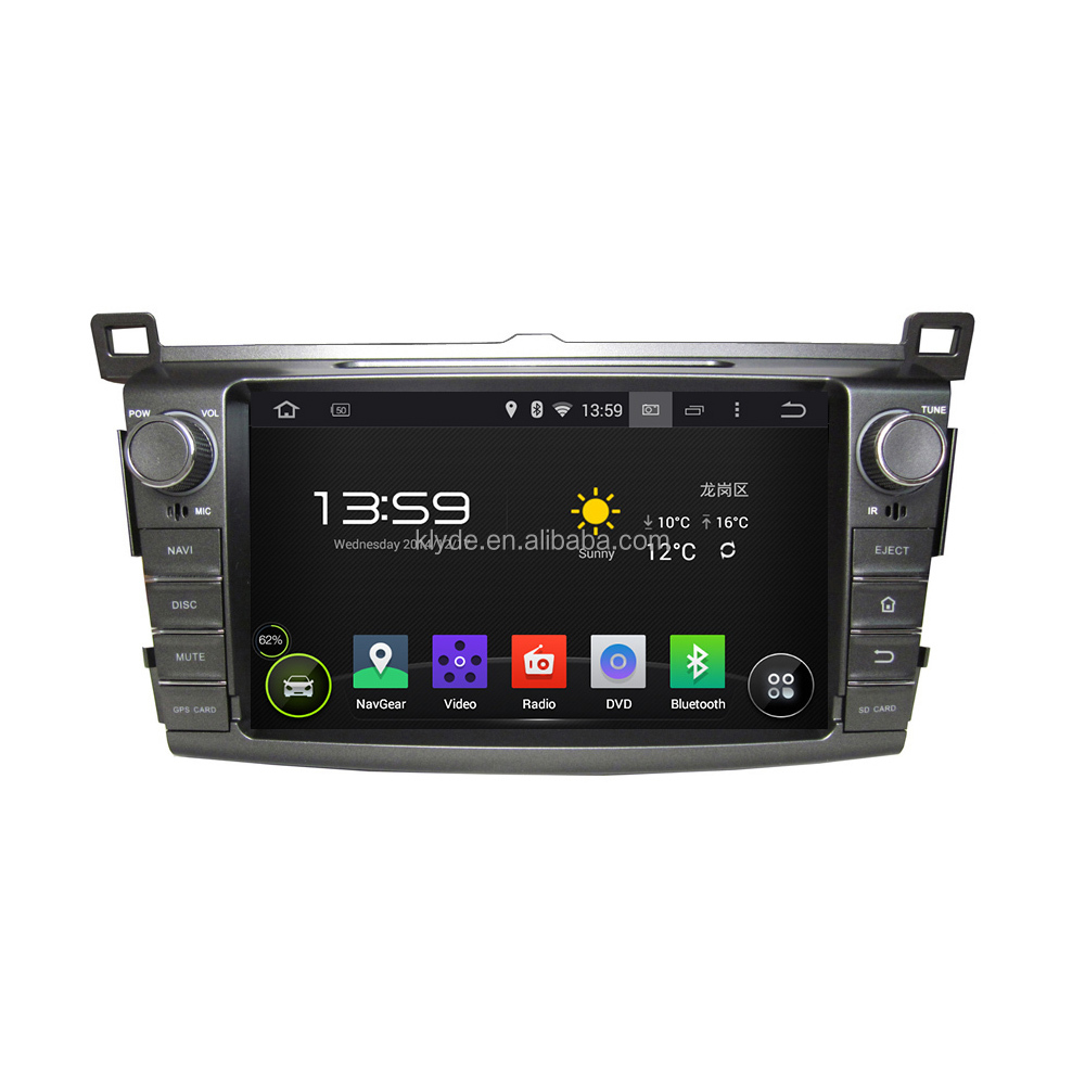 Hot sale Android 5.1.1 Quad Core Car multimedia DVD player for Toyota RAV4 2013