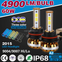 BEST WHOLESALE A2 COB CHIP LED 60W 6400LM 9004 9007 CANBUS AUTO LED H1 H7 H4